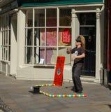 Centro York Inglaterra de Town del actor de la calle Fotos de archivo