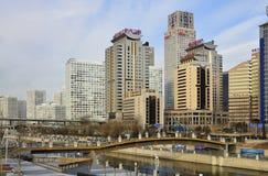 Centros económicos de la ciudad de CBD-Pekín imágenes de archivo libres de regalías