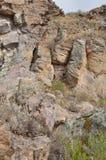 Centros fúnebres, construídos na rocha Imagem de Stock