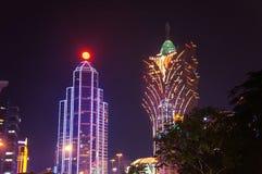 Centros turísticos de lujo del casino en el Macao Imagenes de archivo