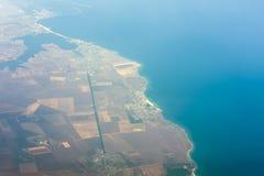 Centros turísticos de Rumania el Mar Negro de Eforie Nord, Sud, el 23 de agosto y de Costinesti fotos de archivo libres de regalías