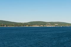 Centros turísticos y puerto deportivo Foto de archivo
