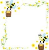 Centros y abejas de flores Foto de archivo libre de regalías