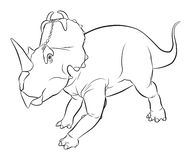 Centrosaurus Dinosaur Stock Photos