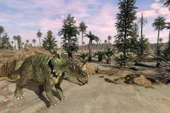 Centrosaurus Landscape Royalty Free Stock Photo