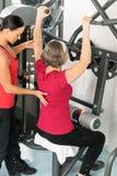 centrum ćwiczenia sprawności fizycznej starsza trenera kobieta Obraz Stock