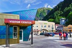 Centrum 2 van de Bezoeker van het Schip van de Cruise Alaska - Juneau stock foto's