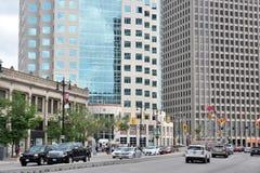 Centrum av den Winnipeg staden royaltyfri bild