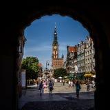 Centrum av Gdansk, Polen Royaltyfri Fotografi