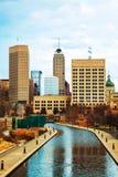 Centrum av Indianapolis Arkivbild