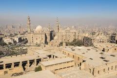 Centrum av Kairo som ses från Saladin Citadel (Egypten) arkivbild
