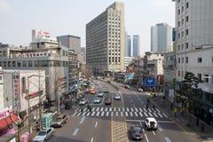 Centrum av Seoul Arkivbilder