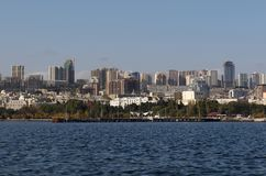 centrum Baku widok Zdjęcia Royalty Free