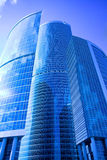 centrum biznesowe miasta nowych Moscow drapacze chmur Zdjęcia Stock