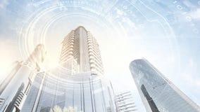 centrum biznesu architektonicznej ilustracji temat Zdjęcie Royalty Free