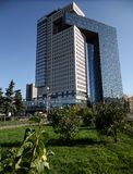 Centrum biznesu golden gate na entuzjasty autostradzie, Moskwa, Rosja fotografia stock