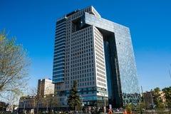 Centrum biznesu golden gate na entuzjasty autostradzie, Moskwa, Rosja fotografia royalty free
