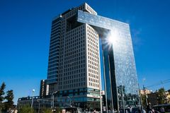 Centrum biznesu golden gate na entuzjasty autostradzie, Moskwa, Rosja obrazy stock