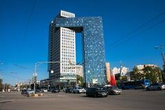 Centrum biznesu golden gate na entuzjasty autostradzie, Moskwa, Rosja obrazy royalty free