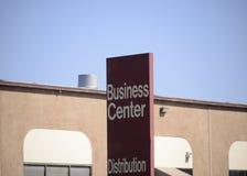 Centrum Biznesu i dystrybuci teren Zdjęcia Royalty Free