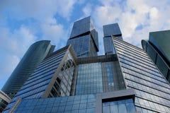 centrum biznesu miasta budowa Moscow Zdjęcie Stock