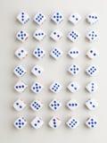 Centrum blauw dwarspatroon Stock Foto's