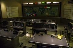 Centrum dowodzenia w centrum lotów kosmicznych imienia johna f. kennedyego zdjęcie stock