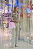 centrum dziewczyny na zakupy Zdjęcie Royalty Free