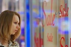 centrum dziewczyny na zakupy Zdjęcia Royalty Free