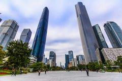 centrum finansowy Guangzhou gzifc zawody międzynarodowe zdjęcie royalty free