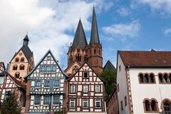centrum gelhausen średniowiecznego zdjęcia royalty free