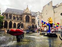 Centrum Georges Pompidou Paris Royalty-vrije Stock Fotografie