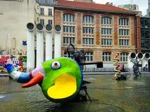 Centrum Georges Pompidou Paris Stock Afbeelding