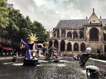 Centrum Georges Pompidou Paris Royalty-vrije Stock Foto