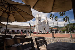 Centrum Guaduas w Cundinamarca, Kolumbia Fotografia Stock
