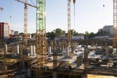 Centrum handlowe budowa w Bucharest Zdjęcia Royalty Free
