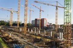 Centrum handlowe budowa w Bucharest Fotografia Stock