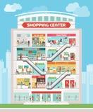 centrum handlowe centrum wewnętrzny zakupy ilustracji