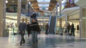 Centrum handlowe czasu upływu strzał zdjęcie wideo