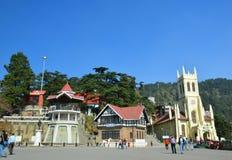 Centrum handlowe droga Shimla Fotografia Stock