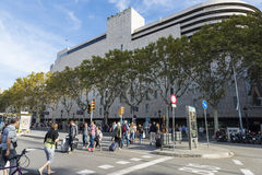 Centrum handlowe El Corte Ingles, Barcelona zdjęcie stock