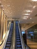 Centrum handlowego nieba świateł dekoracje Fotografia Stock
