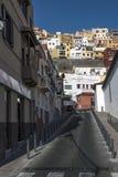 Centrum historique du village de bord de la mer images libres de droits