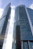 centrum interesów miasta nowoczesnych Moscow drapacze chmur obraz stock