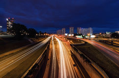 Centrum of Katowice in the evening. Stock Image