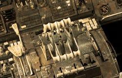 Centrum konsola i przepustnicy w samolocie Obraz Royalty Free
