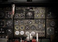 Centrum konsola i przepustnicy w samolocie Zdjęcie Royalty Free