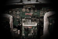 Centrum konsola i przepustnicy w samolocie Obraz Stock