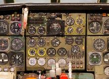 Centrum konsola i przepustnicy w samolocie Fotografia Royalty Free