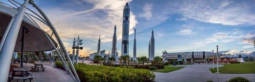 Centrum Lotów Kosmicznych Imienia Johna F. Kennedyego panorama Zdjęcie Stock